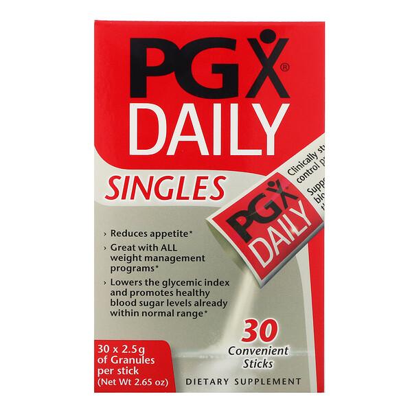 PGX на каждый день, в индивидуальной упаковке, неароматизированные гранулы, 30 пакетиков, 2,5 г каждый