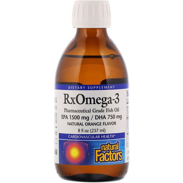 Rx Omega-3, натуральный вкус апельсина, 237 мл (8 жидк. унций)