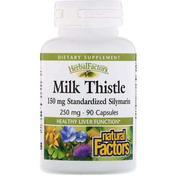 Расторопша, 250 мг, 90 капсул