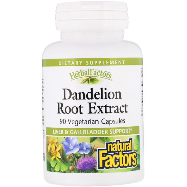 Natural Factors, Dandelion Root Extract, 90 Vegetarian Capsules