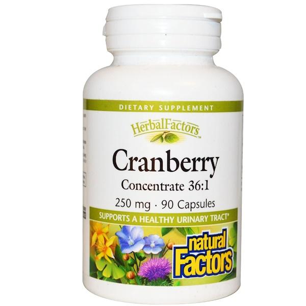 Natural Factors, Клюквенный концентрат 36: 1, 250 мг, 90 капсул (Discontinued Item)