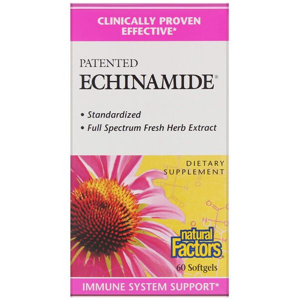 Natural Factors, Echinamide, запатентованная добавка, 60 капсул