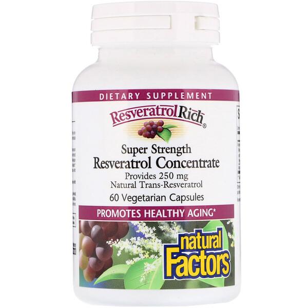 ResveratrolRich, супер сильный концентрат ресвератрола, 60 растительных капсул
