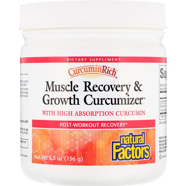 Natural Factors, CurcuminRich, средство восстановления и роста мышц Куркумайзер, 5,5 унций (156 г)