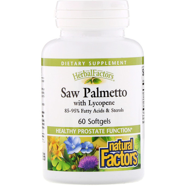 HerbalFactors, Saw Palmetto with Lycopene, 60 Softgels