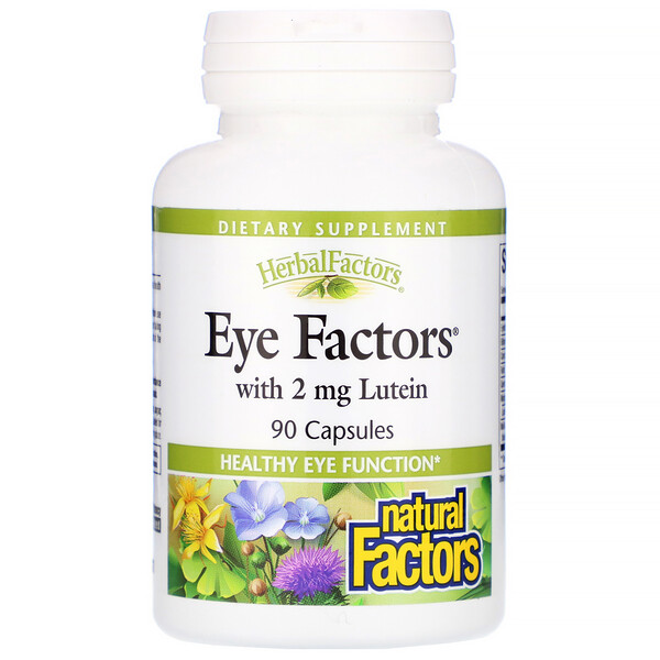 Natural Factors, Eye Factors с 2 мг лютеина, 90 капсул