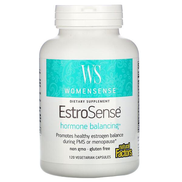 WomenSense, EstroSense, Средство для поддержания гормонального баланса, 120 вегетарианских капсул