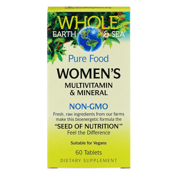 Пищевая добавка Whole Earth & Sea, мультивитаминный и минеральный комплекс для женщин, 60 таблеток