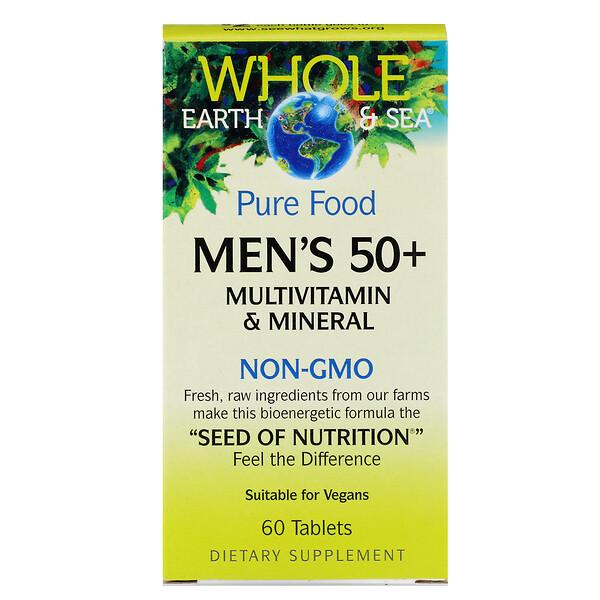 Пищевая добавка Whole Earth & Sea, мультивитаминный и минеральный комплекс для Мужчин от 50, 60 таблеток