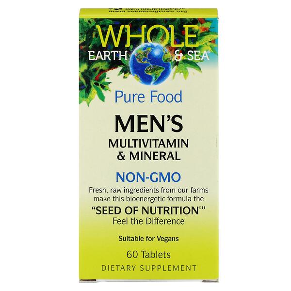 Пищевая добавка Whole Earth & Sea, мультивитаминный и минеральный комплекс для мужщин, 60 таблеток