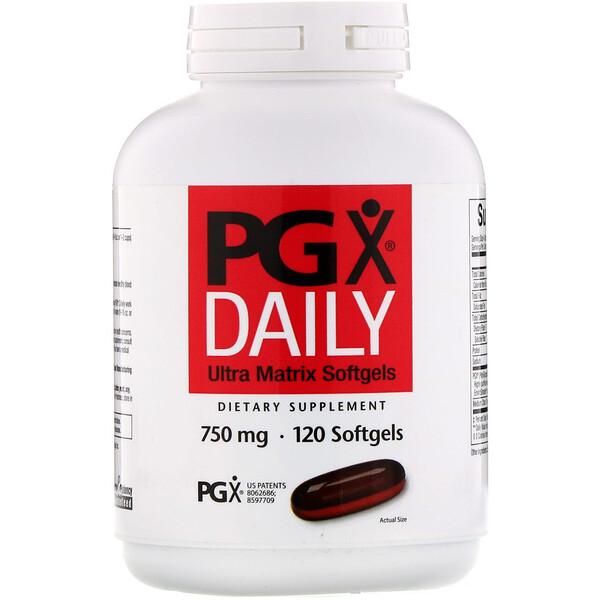 PGX Daily, мягкие таблетки с ультраматрицей, 750 мг, 120 мягких таблеток