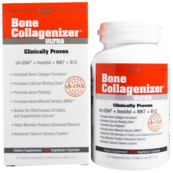 Biosil, Bone Collagenizer Ultra, 120 вегетарианских капсул