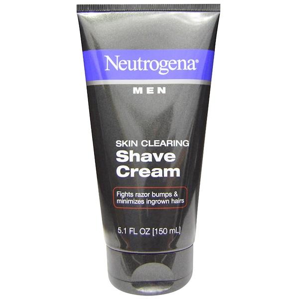 Очищение кожи, мужской крем для бритья, 5,1 жидких унций (150 мл)
