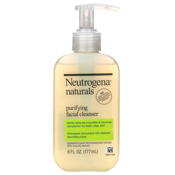 Neutrogena, Naturals, очищающее средство для лица, 177 мл (6 жидких унций)