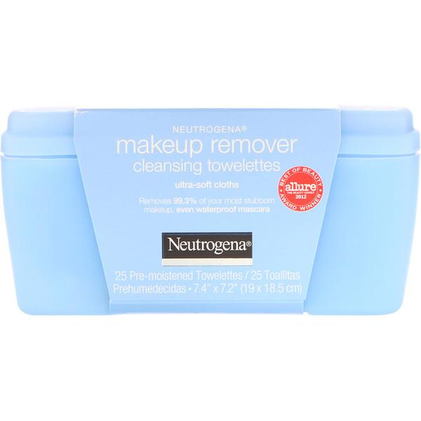 Чистящие салфетки для снятия макияжа, ультрамягкие, 25 предварительно увлажненных салфеток