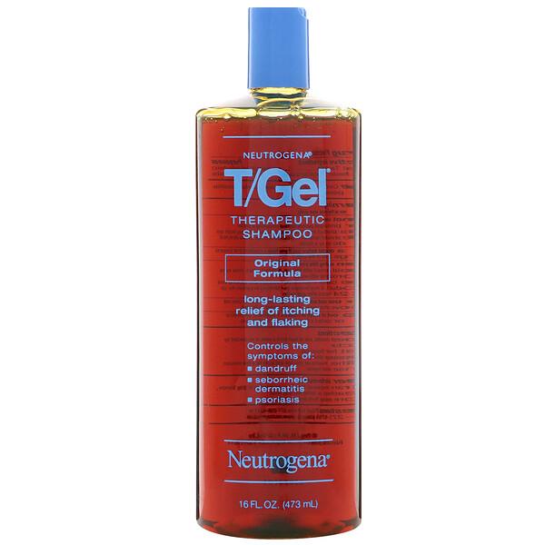 T/Gel, терапевтический шампунь, оригинальная формула, 16 жидких унций (473 мл)