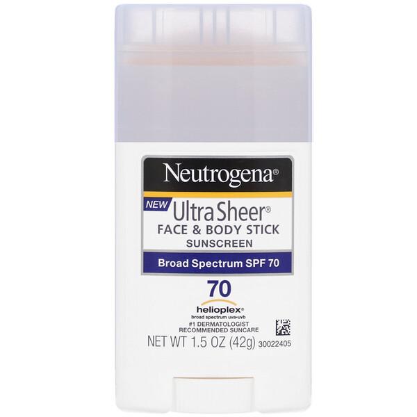 Ultra Sheer, карандаш для лица и кожи, солнцезащитное средство, SPF 70, 42 г (1,5 унции)