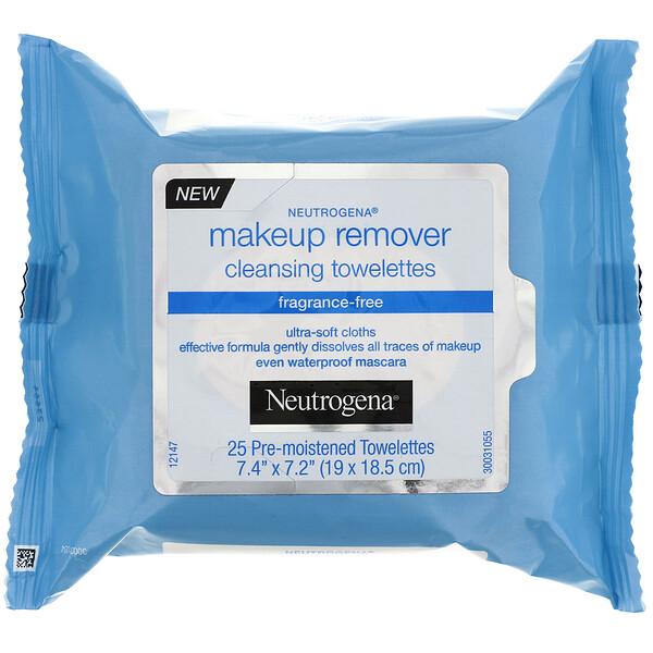 Салфетки для снятия макияжа, без отдушек, 25 предварительно увлажненных салфеток