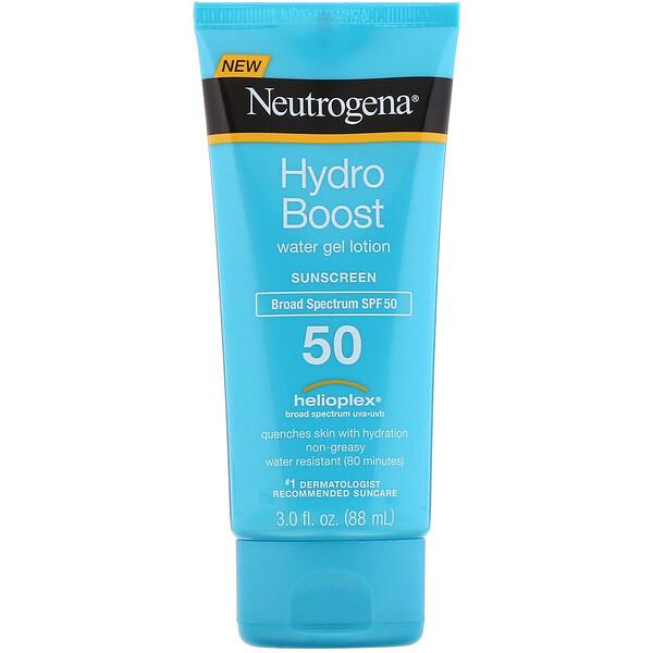 Neutrogena, Hydro Boost, Water Gel Lotion, SPF 50, 3 fl oz (88 ml)