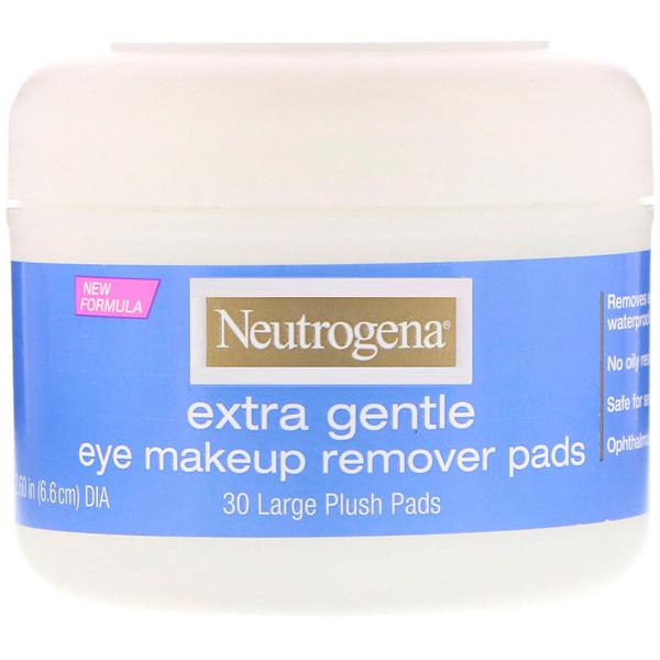 Extra Gentle, подушечки для снятия макияжа с глаз, 30 больших бархатистых подушечек