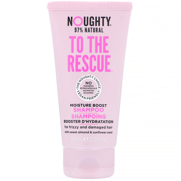 Noughty, To The Rescue, Moisture Boost Shampoo, For Frizzy and Damaged Hair, 2.5 fl oz (75 ml) (Discontinued Item)