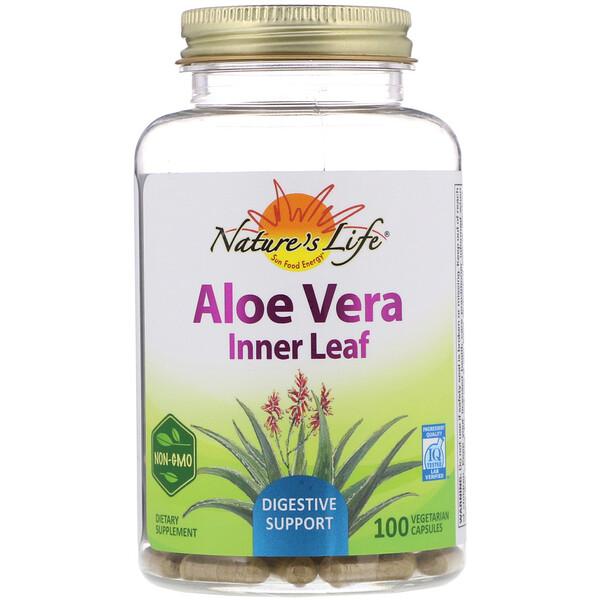 Aloe Vera, Inner Leaf, 100 Vegetarian Capsules