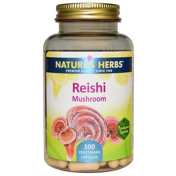 Гриб рейши (трутовик лакированный), 100 вегетарианских капсул