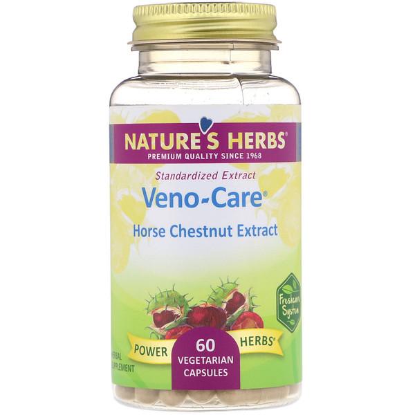 Nature's Herbs, Veno-Care, Horse Chestnut Extract, 60 Vegetarian Capsules (Discontinued Item)