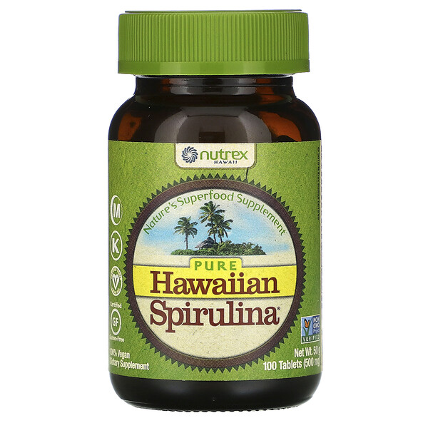 Pure Hawaiian Spirulina, 100 таблеток