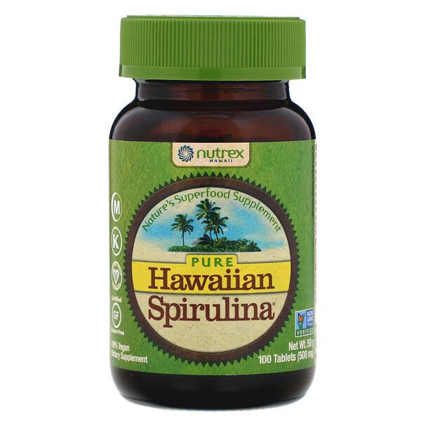 Pure Hawaiian Spirulina Pacifica, натуральные мультивитамины, 500 мг, 100 таблеток