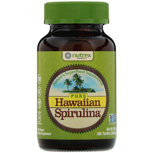 Pure Hawaiian Spirulina, 500мг, 200таблеток