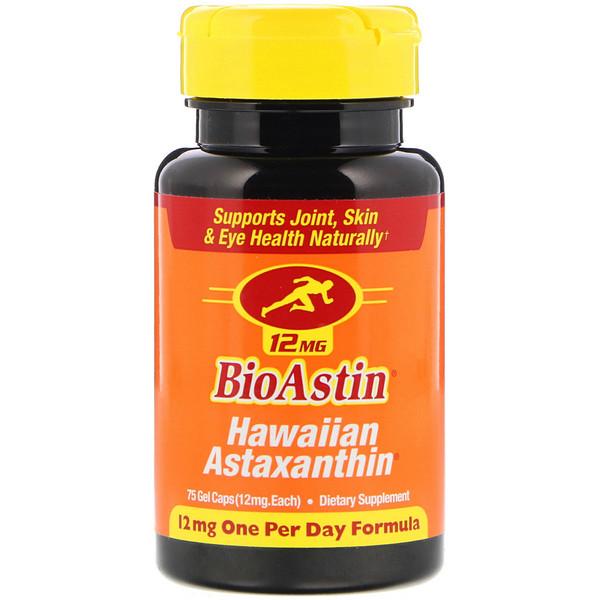BioAstin, 12 мг, 75 гелевых капсул
