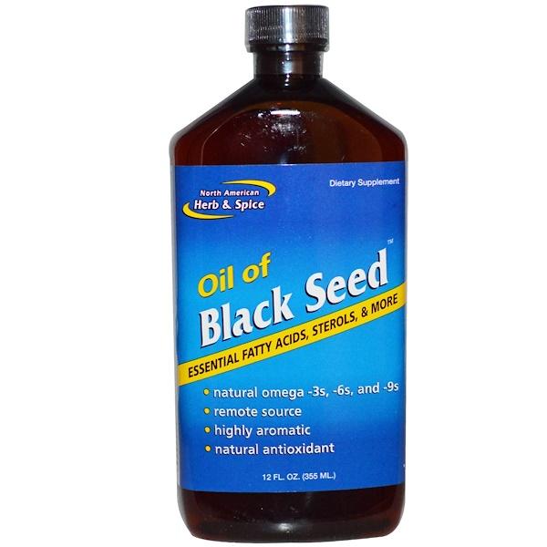 North American Herb & Spice, Масло черного тмина, 12 жидких унций (355 мл) (Discontinued Item)