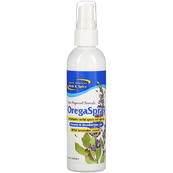 OregaSpray, Aromatic Wild Spice Oil Spray, Wild Lavender Scent, 4 fl oz (120 ml)