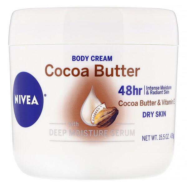 Крем для тела, какао-масло, 439г (15.5 унций)
