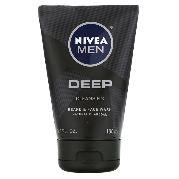 Nivea, Men, Deep Cleansing Beard & Face Wash, 3.3 fl oz (100 ml)