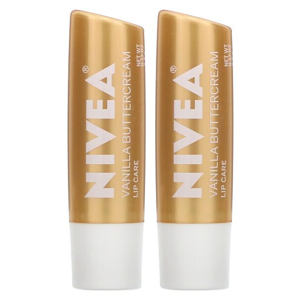 Lip Care, Vanilla Buttercream, 2 Pack, 0.17 oz (4.8 g) Each