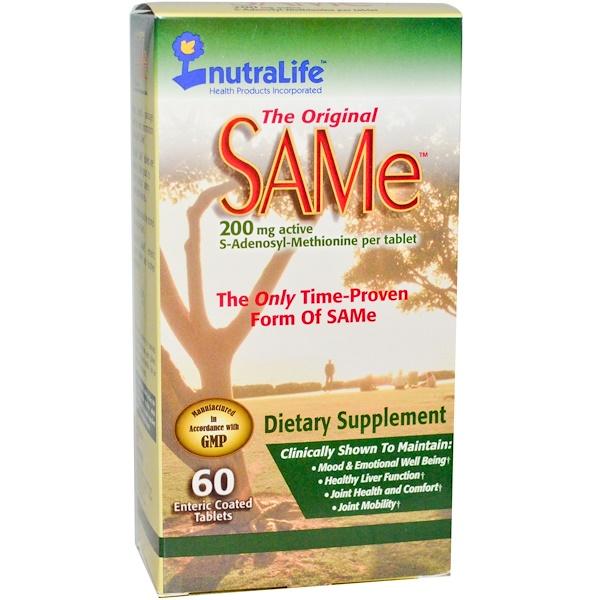 The Original SAMe (S-аденозил-L-метионин), 200 мг, 60 таблеток в кишечнорастворимой оболочке