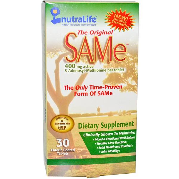 The Original SAM-e (S-аденозил-L-метионин), 400 мг, 30 таблеток в кишечнорастворимой оболочке