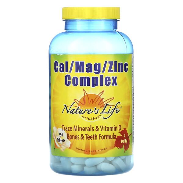 Nature's Life, Комплекс Cal / Mag / Zinc, 250 таблеток