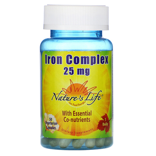 Iron Complex, 25 mg, 50 Vegetarian Capsules