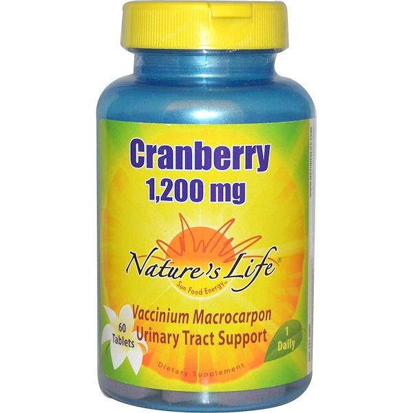 Nature's Life, Клюква, 1200 мг, 60 таблеток (Discontinued Item)