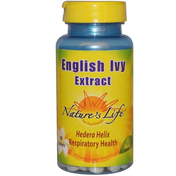 Nature's Life, Экстракт обыкновенного плюща, 90 таблеток (Discontinued Item)