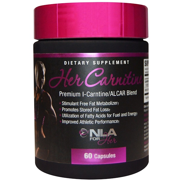 NLA for Her, Карнитин для нее, премиум смесь L-карнитин/ALCAR, 60 капсул (Discontinued Item)