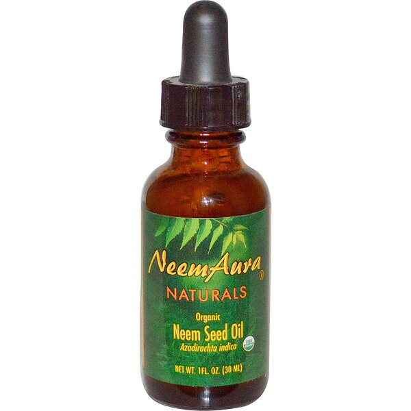 Органическое, масло из семени азадирахта, 1 жидк. унц. (30 мл)