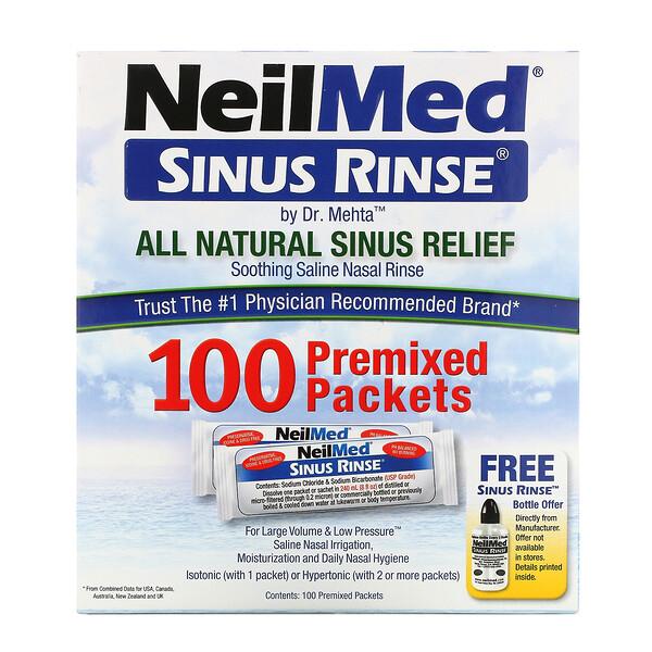 Sinus Rinse, натуральное средство для промывания носа, 100пакетиков
