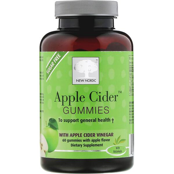 Apple Cider, жевательные таблетки со вкусом яблока, 60 шт.