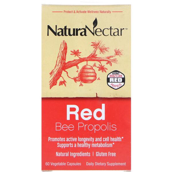Красный пчелиный прополис, 60 вегетарианских капсул