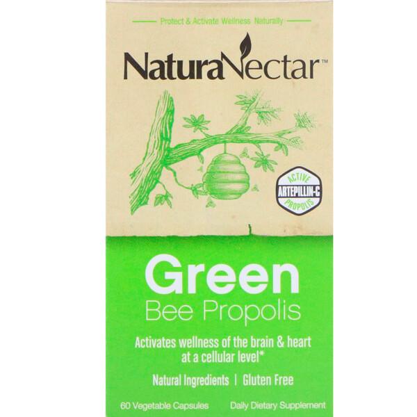 Green Bee Propolis, 60 вегетарианских капсул
