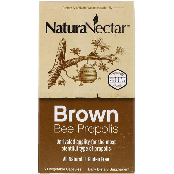 Brown Bee Propolis, 60 вегетарианских капсул